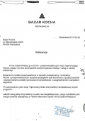 Referencje- BAZAR KOCHA